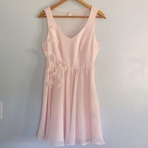 Lauren Conrad Baby Pink Skater Dress